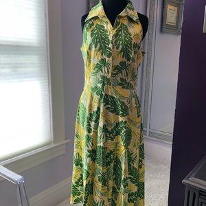 DBY Ltd.  size 11/12 vintage palm dress.